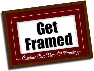 get framed custom cut mats frames